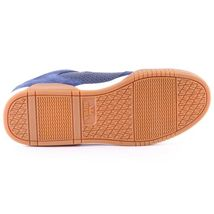 Supra Mens Navy Leather Suede Gum Ellington Lo Top Skateboard Shoes Sneakers NIB image 5