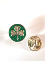 shamrock Lapel Pin Badge / tie pin. in gift box enamel finish, ireland, irish