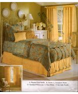 Bedroom Duvet Dust Ruffle Sham Pillowcase Drape Curtain Panels Sew Patte... - $12.99