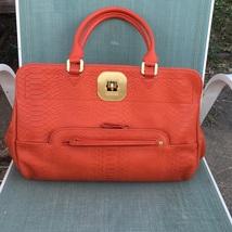 Longchamp leather Satchel - Gatsby Croc  Tomato red - $395.99
