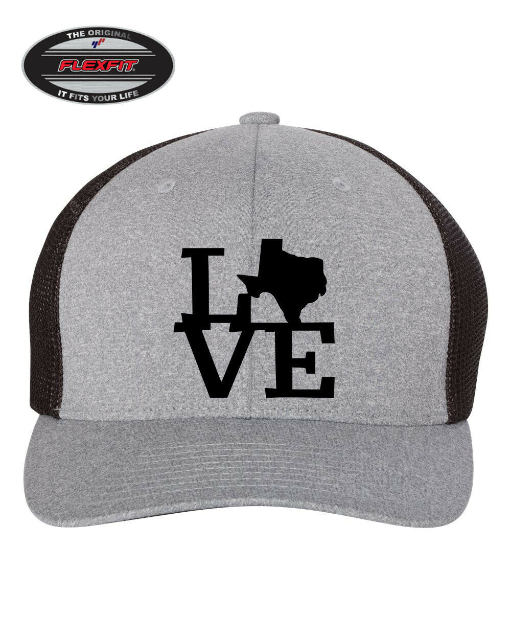 Primary image for I LOVE TEXAS STATE HOME Trucker Cap FLEXFIT HAT *FREE SHIPPING in BOX*