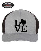 I LOVE TEXAS STATE HOME Trucker Cap FLEXFIT HAT *FREE SHIPPING in BOX* - $19.99
