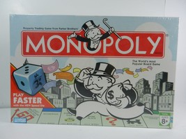 Monopoly Game Play Faster Speed Die Hasbro 2007 Family Board Game New Se... - $12.82