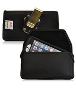 Genuine Leather Rugged Metal Clip Magnet Side Case fits Otterbox Samsung... - $38.99