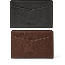 Fossil OMEGA CARD CASE, ML3533P Leather BLACK - ₹2,148.30 INR
