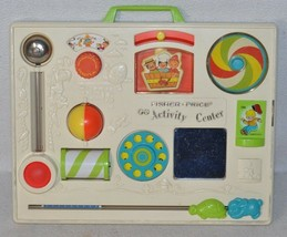 Great looking 1973 Vintage Fisher Price Activity Center with Crib Mount ... - $29.99