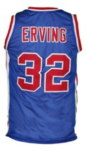 Julius Erving #32 Virginia Squires ABA Basketball Jersey New Sewn Blue Any Size image 4
