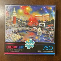 Buffalo 750 Piece Jigsaw Puzzle Cities in Color Las Vegas The Grand View - $11.06