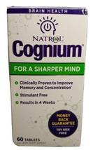 NATROL COGNIUM MEMORY BRAIN HEALTH - 60 TABLETS Exp 01/31/21 - $10.79