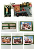 NEW North Pole Express Christmas Teddy Bear Train Display Engine Photo C... - $22.24