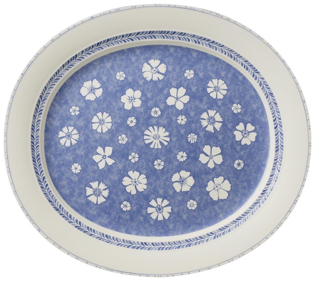 "Villeroy Boch Made In Germany: Villeroy & Boch 'Farmhouse Touch Blue Flowers"" Oval"