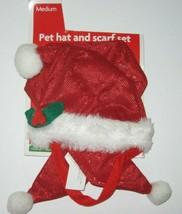 Dog Santa Claus Costume Christmas Clothes Pet Puppy Hat & Scarf Medium  - $12.19