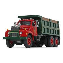 first gear 60-0404 /DCP mack b-61 dump truck red/green 1/64 scale - $64.30