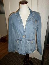 Ann Taylor Loft Fitted Denim J EAN Jacket Size 6 - $19.35