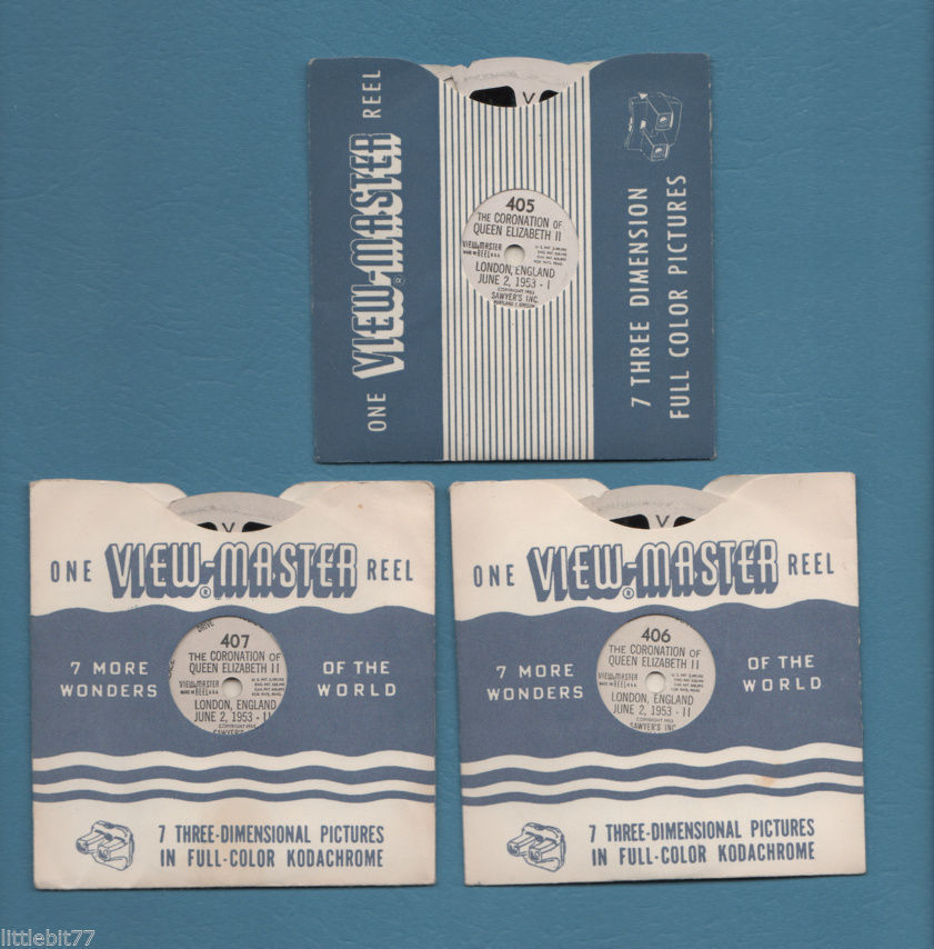 Primary image for View-Master 3 Reel 1953 The Coronation of Queen Elizabeth II