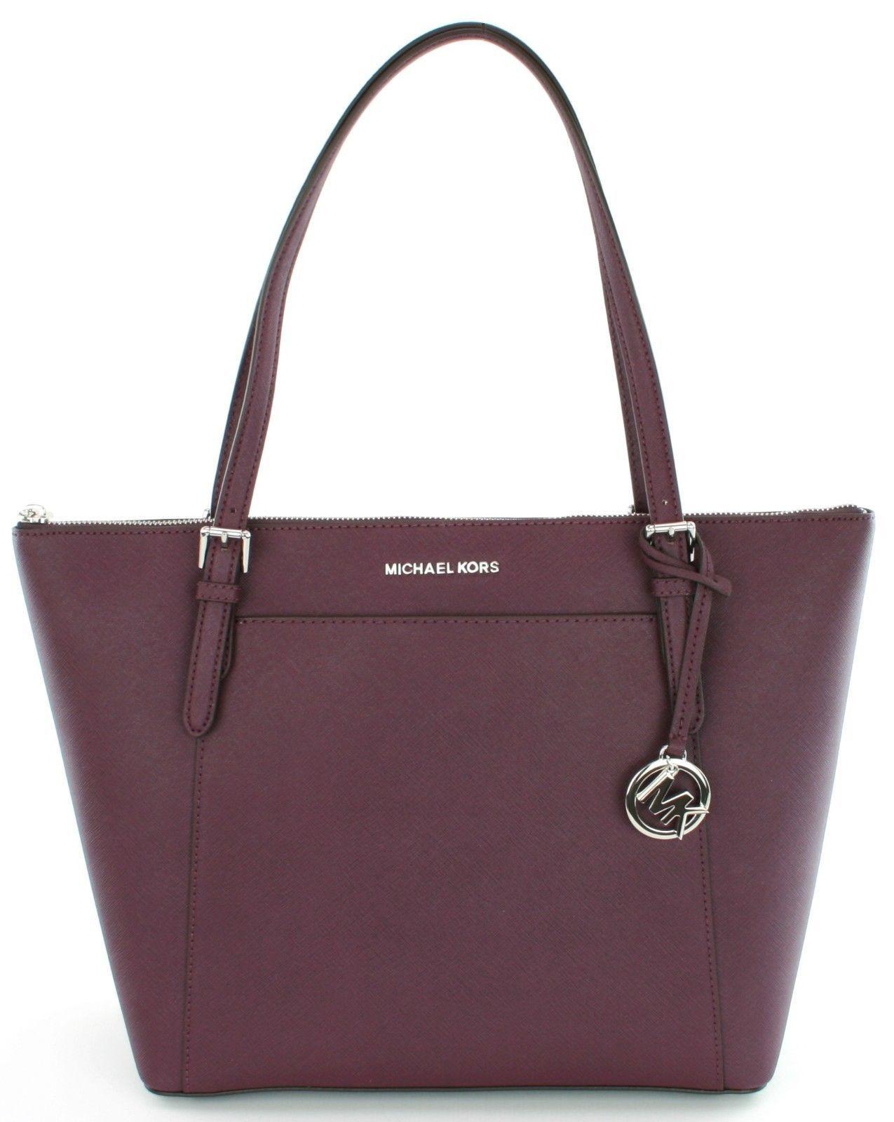 1d574f7ec0dd4 Michael Kors Farbe Zwetschge Jet Set Saffiano-Leder Shopper Handtasche -   273.82