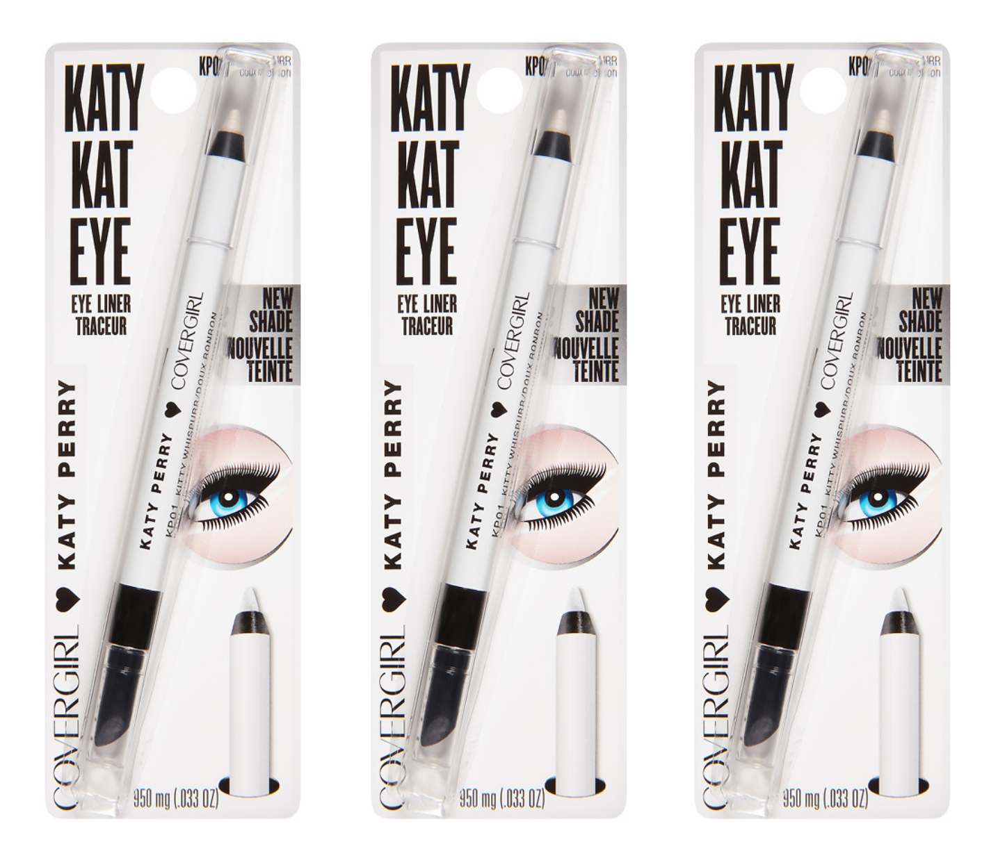 Primary image for CoverGirl Katy Kat Eye Eye Liner, Kitty Whispurr (3-PACK)