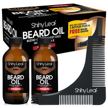 Beard oil Masters Set - perfect grooming kit for men by Shiny Leaf - $16.89