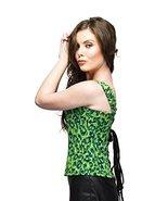 Green Georgette Print Goth Burlesque Plus Size Corset Waist Shaper Overb... - $56.92