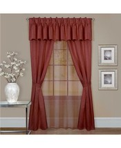 $79.00 Achim Claire 6 Pc Window Curtain Set, 55x63, Marsala color - $14.85