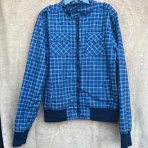 H & M boys Blue Pleaded bomber jacket size 14 Y Waterproof Light Weight - $12.00