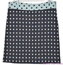Milly Womens Skirt Polka Dot Wool Straight Above Knee New York Green Bla... - $24.70