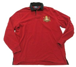Polo By Ralph Lauren Red Long Sleeve Polo Shirt Adult Men's Size Medium - $34.60