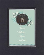 GoodOldSaying - Poem for Love and Marriage - Love (1 Corinthians 13:7). . Poem o - $11.14