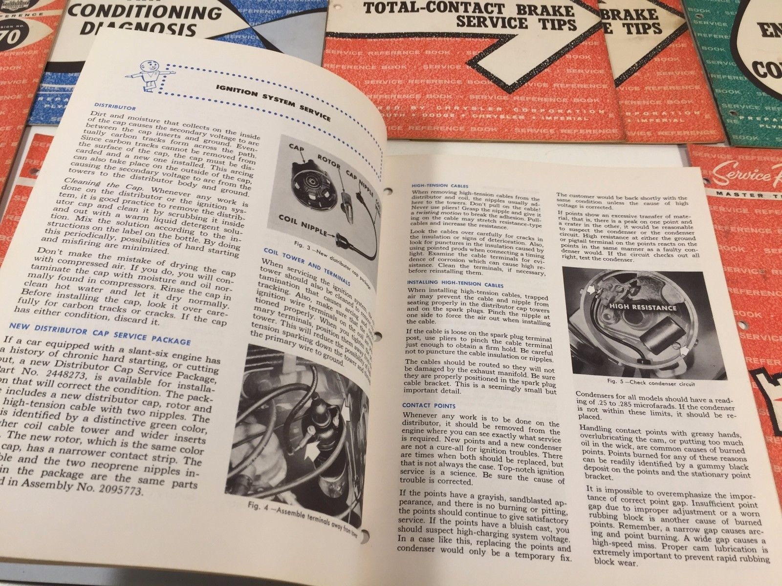 (8) The Master Technicians Service Reference Books Chrysler Plymouth Dodge 63 64