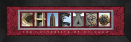 University of Chicago Officially Licensed Framed Campus Letter Art - $39.95