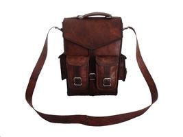Men's vintage Leather backpack rucksack bag laptop casual travel school bags image 4