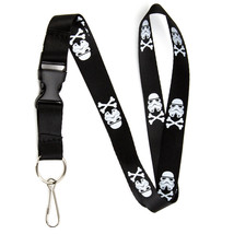 Stormtrooper and Crossbones Lanyard Keychain and ID Holder w/ Detachable... - $7.99