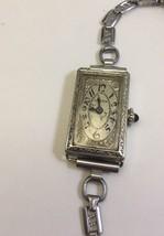 Antique Gruen 14K White Gold Watch 1920's Working Sapphire Stem 1167521 ... - $299.74