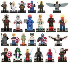 24pcs SuperHero Marvel Avengers X-men Logan Mystique Ant-Man Iron Man Minifigure - $27.99