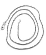 18K WHITE GOLD CHAIN 1.2 MM SQUARE FRANCO LINK, 18 INCHES, 45 CM MADE IN... - $430.00