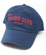 Disney Yacht CLub Resort Embroidered Navy Blue Strapback Hat Cap - £30.63 GBP