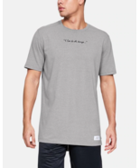 Under Armour Mens SC30 Script Short Sleeve T-Shirt 1342986-035 Gray Mult... - $20.38