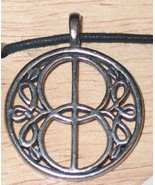 Chalice Well Cover Celtic Visions Metal Pendant Necklace, NEW UNWORN - $7.84