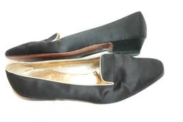 Salvatore Ferragamo VTG Silk Loafers Black Size 8 B Made in Italy Shoes EUC - $39.60