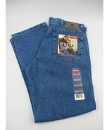 Wrangler Men's Stretch Blue Jeans 36x30 Regular Fit Seat & Thigh Cotton ... - $49.99