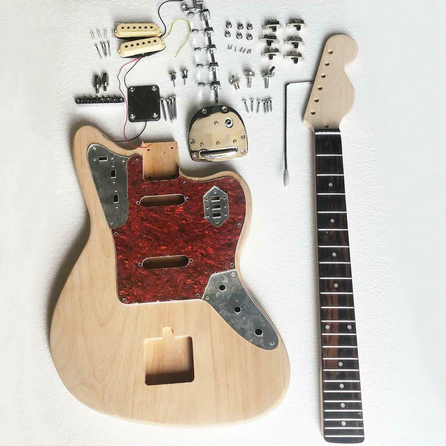 musoo brand unfinished diy electric guitar kit with all parts guitar builder luthier supply. Black Bedroom Furniture Sets. Home Design Ideas