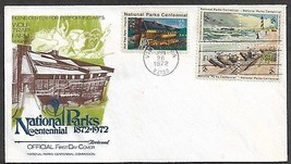USA 1972 Sc 1451a & 1452 NATIONAL PARKS LIGHTHOUSE Fishing FLEETWOOD FDC - $0.99