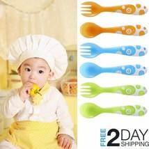 Toddler Eating Set Spoons Forks 6Pcs Self-Feeding Large Handles 12+ mont... - $7.91