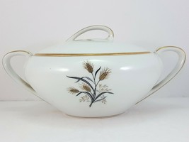 "Noritake Wheatcroft 5852 Sugar Bowl with Handles 6"" White and Gold - $13.86"