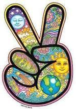 Small Mosaic Peace Sign Fingers  Vinyl  Sticker   Hippie - $3.29