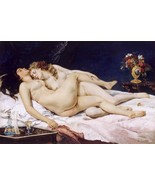 """Le Sommeil """"Sleepers"""" Painting by Gustave Courbet Art Reproduction - $32.99+"""