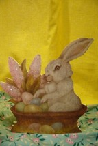 Bethany Lowe Bunny in Basket Dummy Board image 1