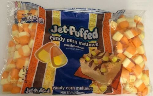 Primary image for Candy Corn Marshmallows KRAFT 8 oz Bag JET-PUFFED Fat Free 100 calorie Halloween
