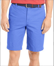 NEW MENS IZOD SALTWATER RELAXED CLASSICS BLUE REVIVAL WASHED CHINOS SHOR... - $19.99