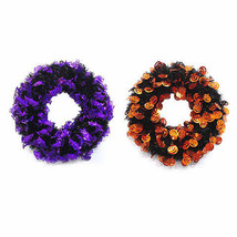 Halloween Wreath: 20 inches Bats Jack-o-Lanterns w - £15.31 GBP